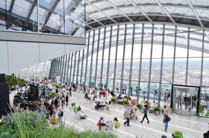 sky garden london panoramica